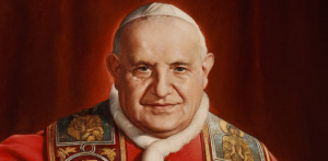 PAINTING OF BLESSED BLESSED JOHN XXIII SEEN IN MUSEUM DEDICATED TO LATE PONTIFF