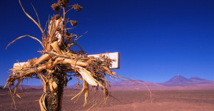 Cross in Chilean Desert