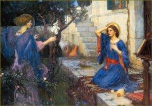 jwh A_Annunciation_John_William_Waterhouse_1914