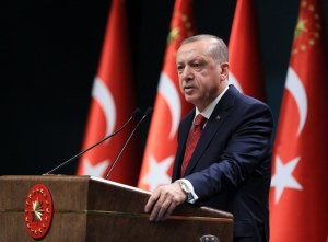 Turkish President Recep Tayyip Erdogan press conference in Ankara
