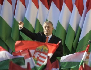 Final electoral rally of the ruling Fidesz Party in Szekesfehervar
