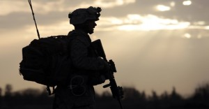 U.S. Marine walks during an operation in Marjah, Helmand province